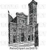 Vector Clip Art of Retro Florence Cathedral by Prawny Vintage