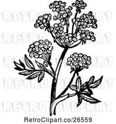 Vector Clip Art of Retro Flowering Plant 2 by Prawny Vintage