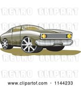 Vector Clip Art of Retro Ford Fairmont Muscle Car by Patrimonio
