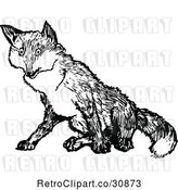 Vector Clip Art of Retro Fox by Prawny Vintage