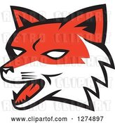 Vector Clip Art of Retro Fox Head by Patrimonio