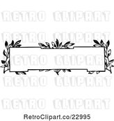 Vector Clip Art of Retro Frame with Vines by Prawny Vintage