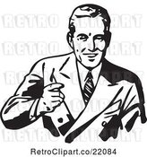 Vector Clip Art of Retro Friendly Business Man by BestVector