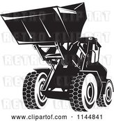 Vector Clip Art of Retro Front Loader by Patrimonio