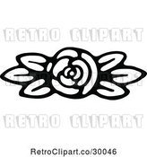 Vector Clip Art of Retro Fully Bloomed Rose by Prawny Vintage