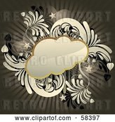 Vector Clip Art of Retro Funky Cloud by MilsiArt