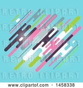 Vector Clip Art of Retro Funky Colorful Background by KJ Pargeter