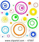 Vector Clip Art of Retro Funky White Background with Circles by Prawny