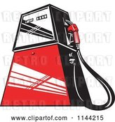 Vector Clip Art of Retro Gas Station Pump 2 by Patrimonio