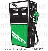 Vector Clip Art of Retro Gas Station Pump 4 by Patrimonio