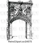 Vector Clip Art of Retro Gateway Entrance to St Johns College in Cambridge Uk by Prawny Vintage