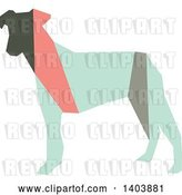 Vector Clip Art of Retro Geometric Colorful Profiled Terrier Dog by Cherie Reve
