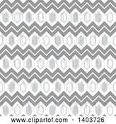 Vector Clip Art of Retro Geometric Seamless Grayscale Pattern Background by Dero