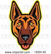 Vector Clip Art of Retro German Shepherd Dog Mascot by Patrimonio