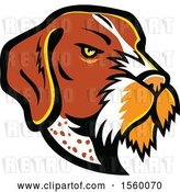 Vector Clip Art of Retro German Wirehaired Pointer Dog Mascot by Patrimonio