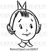 Vector Clip Art of Retro Girl in by Picsburg