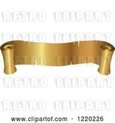 Vector Clip Art of Retro Golden Banner Scroll by Cidepix