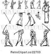 Vector Clip Art of Retro Golfers by BestVector