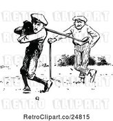 Vector Clip Art of Retro Golfers by Prawny Vintage