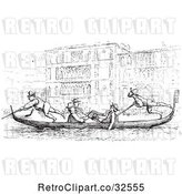 Vector Clip Art of Retro Gondola on the Grand Canal in by Picsburg