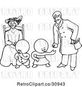 Vector Clip Art of Retro Goops KChildren with a Lady and Guy by Prawny Vintage