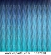 Vector Clip Art of Retro Gradient Blue Zig Zag Pattern Background by KJ Pargeter