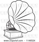 Vector Clip Art of Retro Gramophone by Lal Perera