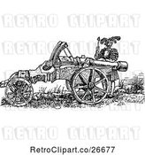Vector Clip Art of Retro Great Cannon and Soldier by Prawny Vintage