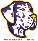 Vector Clip Art of Retro Great Dane Dog Mascot Head by Patrimonio