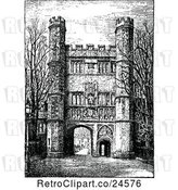 Vector Clip Art of Retro Great Gate at Trinity College in Cambridge Uk by Prawny Vintage