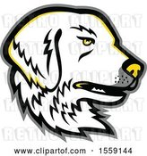 Vector Clip Art of Retro Great Pyrenees Dog Mascot by Patrimonio