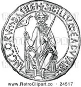 Vector Clip Art of Retro Great Seal of Edward the Confessor by Prawny Vintage
