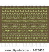 Vector Clip Art of Retro Green and Brown Page Borders and Rules by KJ Pargeter
