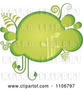 Vector Clip Art of Retro Green Bubble Bamboo Frame by Amanda Kate