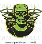 Vector Clip Art of Retro Green Frankenstein Monster by Andy Nortnik