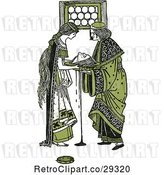 Vector Clip Art of Retro Green Herodias and the Head of John the Baptist by Prawny Vintage