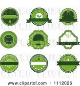 Vector Clip Art of Retro Green Organic Labels by Vector Tradition SM