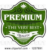 Vector Clip Art of Retro Green Quality Guarantee Label 2 by Vector Tradition SM