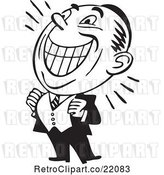Vector Clip Art of Retro Grinning Business Man by BestVector