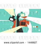 Vector Clip Art of Retro Group of Photographer Hands Taking Pictures with Cameras by BNP Design Studio