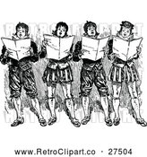 Vector Clip Art of Retro Group of Singing Boys by Prawny Vintage