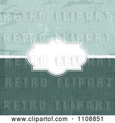 Vector Clip Art of Retro Grungy Background with Stripes and a Frame by KJ Pargeter