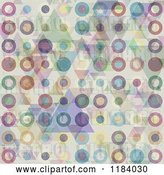 Vector Clip Art of Retro Grungy Circle and Triangle Background by KJ Pargeter