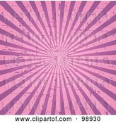 Vector Clip Art of Retro Grungy Pink Ray Background by Pushkin