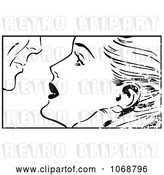 Vector Clip Art of Retro Grungy Pop Art Couple About to Kiss by Brushingup