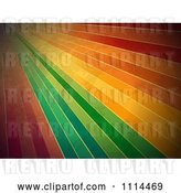 Vector Clip Art of Retro Grungy Rainbow Lines by Elaineitalia