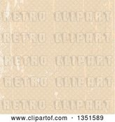 Vector Clip Art of Retro Grungy Scratched Beige Background Pattern of Diamonds by KJ Pargeter