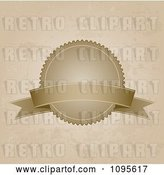 Vector Clip Art of Retro Grungy Sepia Banner Label over Grungy Tan by KJ Pargeter