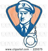 Vector Clip Art of Retro Guard with Cuffs Logo by Patrimonio