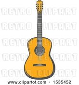 Vector Clip Art of Retro Guitar, in Style by Vector Tradition SM